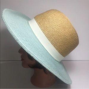 Ladies Sun Hat Sea Bluegreen tan Floppy Beach
